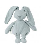 Hračka pletená bavlněná zajíček Lapidou cuddly coppergreen 36 cm