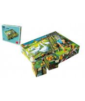 Kostky kubus Na statku dřevo 20ks v krabičce 20x16x4cm