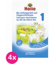 4x HOLLE Bio Kojenecká mléčná výživa na bázi kozího mléka 1, 400 g