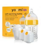 Yoomi 8oz Bottle /2 x Warmer/Teat/Pod 2019 - Y18B2W1P