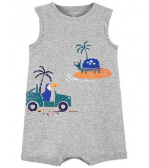 CARTER'S Overal letní Tropical Grey chlapec NB, vel. 56