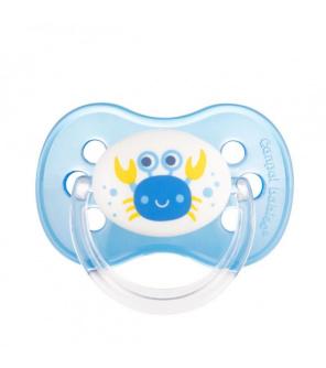 CANPOL BABIES Šidítko silikonové třešinka Nature  6-18m modré