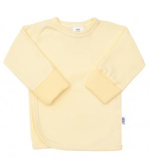 Kojenecká košilka s bočním zapínáním New Baby žlutá