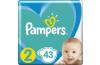 PAMPERS New Baby-Dry 2 (4-8 kg) 43 ks – jednorázové pleny