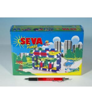 Stavebnice SEVA Pumpa Benzina plast 180ks v krabici 22x15x6cm
