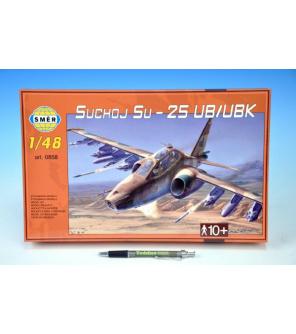 Model Suchoj SU-25 UB/UBK v krabici 35x22x5cm