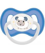 Dudlík silikon symetrický 0-6m Bunny & Company - modrá