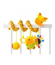 Hračka na postýlku spirála Sensillo Žirafa