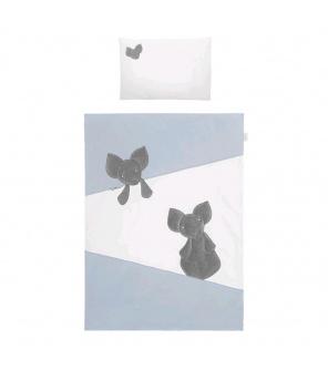 5-dílné ložní povlečení Belisima Mouse 100/135 modré
