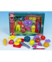 Krájecí ovoce a zelenina 40x27x6cm s nádobím plast 25ks v krabici