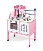 Janod  J06533 Mademoiselle Maxi Cooker dřevěná kuchyňka s 8 doplňky růžová