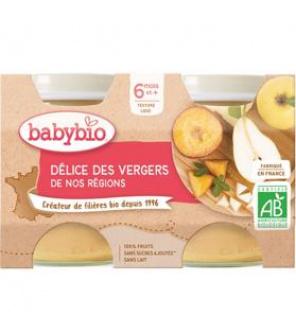 BABYBIO Příkrm ovocná směs (2x 130 g)