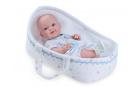 Nines 30401 Baby Recien Nacido CUNA plaváček  37cm kluk s taškou