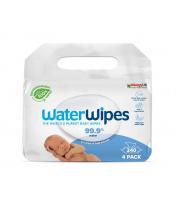 4x WATERWIPES 100% BIO odbouratené ubrousky 60 ks