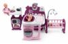 Smoby  Domeček pro panenku Violette Baby Nurse Large Doll's Play Center trojkřídlový s 23 doplňky (kuchyňka, koupelna, ložnice)