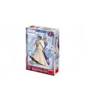 Puzzle 3v1 Ledové království II/Frozen II 200 dílků s diamanty s lepidlem v krabici 20x29,5x6cm