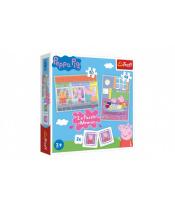 Puzzle 2v1 + pexeso Prasátko Peppa/Peppa Pig 27,5x20,5cm v krabici 28x28x6cm